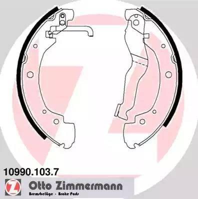Zimmermann 10990.103.7 - Setul de franare, frane cu tambur reperautotrans.ro