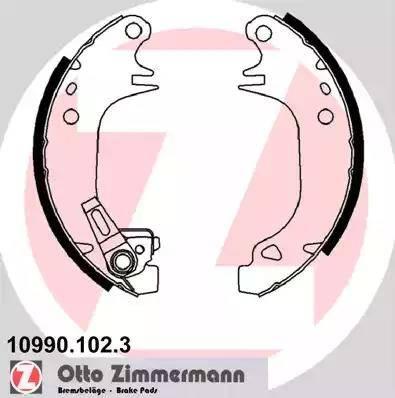 Zimmermann 10990.102.3 - Setul de frânare, frâne cu tambur reperautotrans.ro