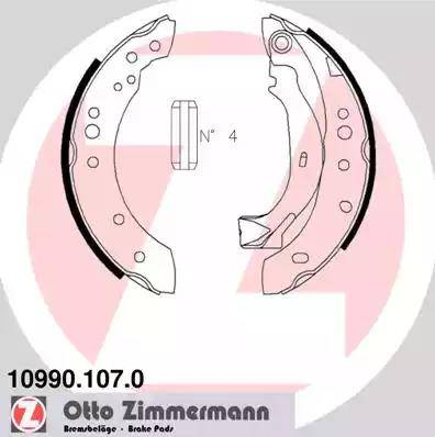 Zimmermann 10990.107.0 - Setul de frânare, frâne cu tambur reperautotrans.ro