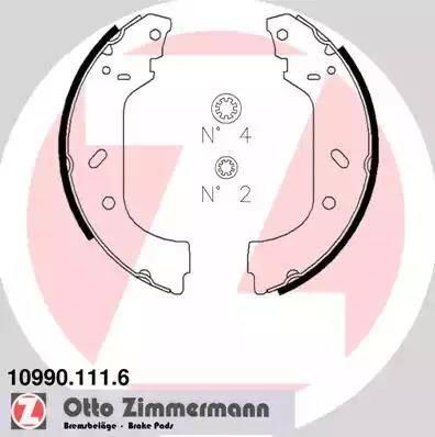 Zimmermann 10990.111.6 - Setul de franare, frane cu tambur reperautotrans.ro