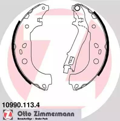 Zimmermann 10990.113.4 - Setul de franare, frane cu tambur reperautotrans.ro