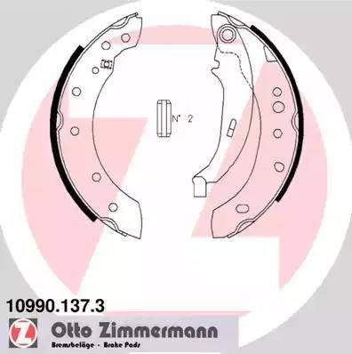 Zimmermann 10990.137.3 - Set saboti frana, frana de mana reperautotrans.ro