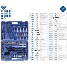 Trusa scule profesionala, atelier auto, 216 piese cromate, Brilliant Tools