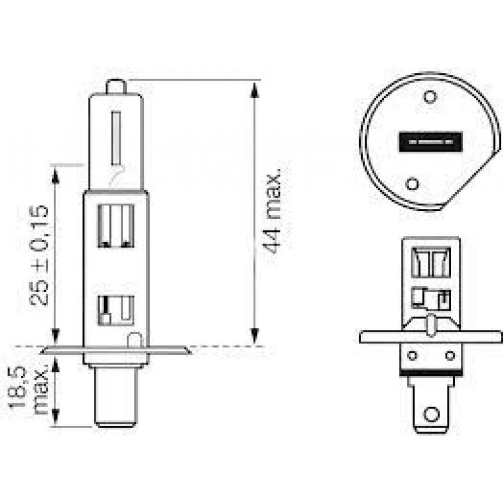 Bec H1 Bosch, 24V, 70W