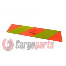 Placa Reflectorizanta Identificare Vehicul Scurt, Camion 565 x 140mm ( 56,5 x 14 cm ) - 2 buc