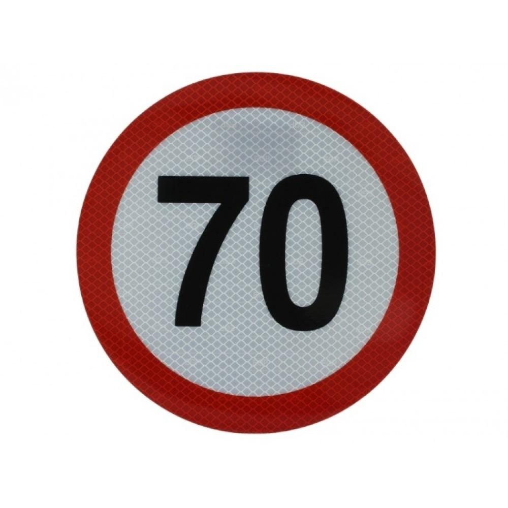 Autocolant Limitatoare Viteza Reflectorizant 70 km/h, Diametru 20 cm ( 200 mm )
