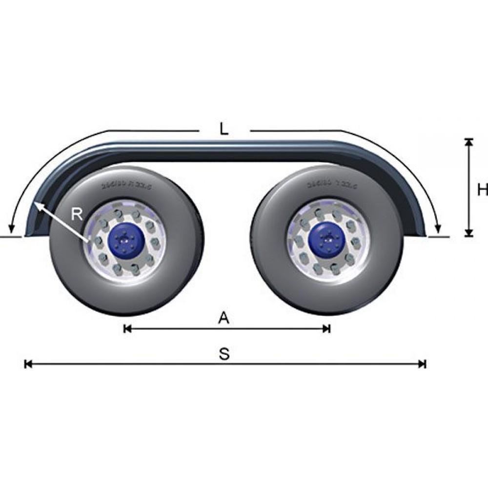 Aripa Aluminiu Pentru Axe Tandem, 270 x 67 x 65 cm (2700 x 670 x 650 mm)