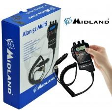 Statie Radio Auto CB, Emisie Receptie, Midland Alan 52 Multi, Portabila