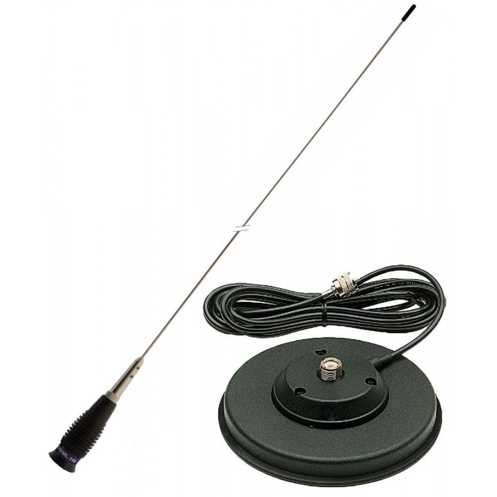 Antena Statie Radio Auto CB, PNI ML145 Lungime 145cm, 1450mm Si Magnet 125mm Inclus