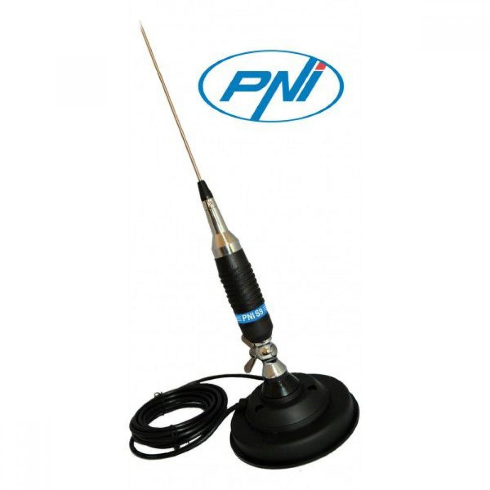 Antena Statie Radio Auto CB, PNI S9 Lungime 120 cm Si Magnet Cu Fluture PNI 120/DV 125 mm Inclus