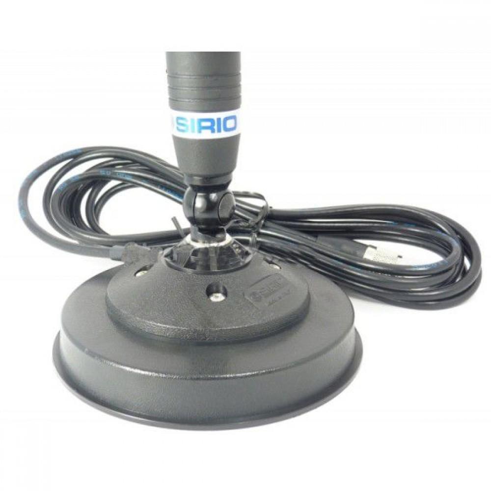 Antena Statie Radio Auto CB, Sirio Omega 27, 90cm, 900mm, Cu Baza Magnetica DV Inclusa