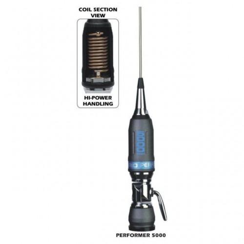 Antena Statie Radio Auto CB, Sirio Performer 5000 PL, 196.5cm, 1965mm Fara Cablu