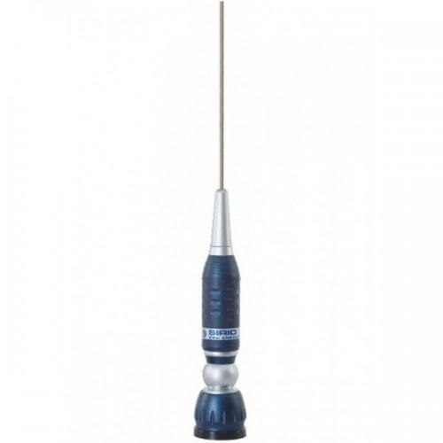 Antena Statie Radio Auto CB, Sirio Turbo 1000 PL Blue Line, 115cm, 1150mm Fara Cablu
