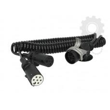 Cablu Electric Spiralat Adaptor Priza, Auto, Tip Y, N/S, 15/7/7, Mufa 7 / 24V, 9 Pini Activi, 3.5m, HELLA