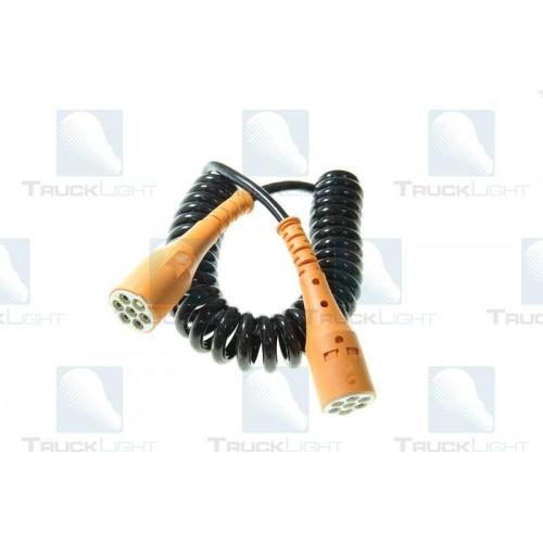 Cablu Electric Spiralat, Tip S 7/24V, 6 Pini Tip Mama, Feminin, Din Plastic, TRUCKLIGHT