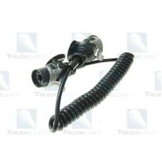 Cablu Electric Spiralat, ABS, 5 Pini Tip Mama, Feminin, 24V, Din Plastic, TRUCKLIGHT