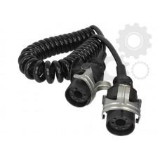 Cablu Electric Spiralat, ABS, 5 Pini Tip Mama, Feminin, 24V, 4m, Din Poliuretan, HELLA