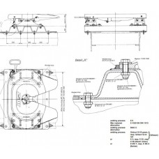 Inaltator Cupla Tractare, Ondulat, 1060x710mm (106x71cm), Inaltime 100mm, JOST