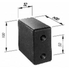 Tampon Cauciuc, Remorca, Dreptunghiular 100x52x100mm (10x5.2x10cm)