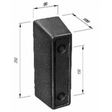 Tampon Cauciuc, Remorca, Dreptunghiular 250x80x100mm (25x8x10cm)