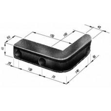 Tampon Cauciuc, Remorca, Forma L 195x205x48mm (19.5x20.5x4.8cm)