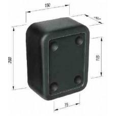 Tampon Cauciuc, Remorca, Dreptunghiular 200x150x80mm (20x15x8cm)