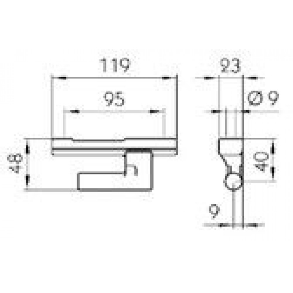Balama Oblon Cu Deschidere La 180 Grade, Lungime 120mm (12cm), Pini