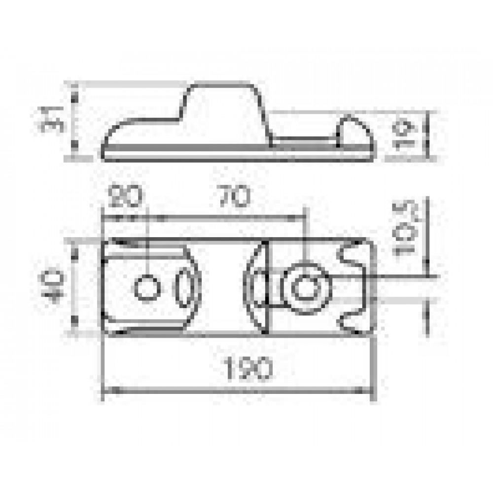 Balama Oblon Cu Deschidere La 180 Grade, Lungime 120mm (12cm), Soclu
