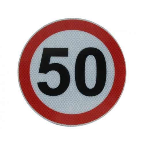 Autocolant Limitatoare Viteza Reflectorizant 50 km/h, Diametru 20 cm ( 200 mm )
