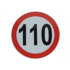 Autocolant Limitatoare Viteza Reflectorizant 110 km/h, Diametru 20 cm ( 200 mm )