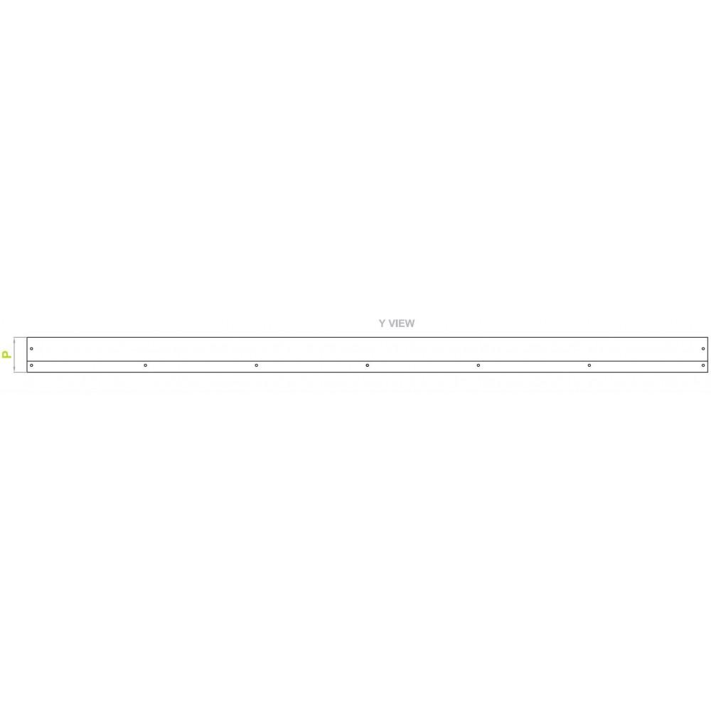 Bara Spate Protectie Remorca / Semiremorca, Lungime 2400mm ( 240cm ,  2,4m ) - GRI INCHIS