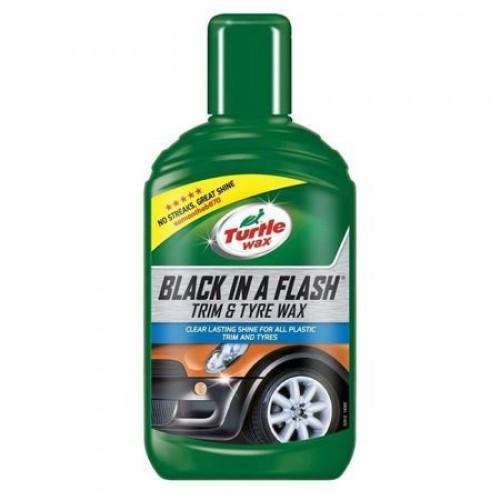 Black in a Flash Trim&Tyre Wax 300 ML Agent curatare elemente de plastic exterioare si anvelope