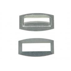Capsa Dreptunghiulara Pentru Prelata, Capse Dreptunghiulare Pentru Prelate, Inel Prelata Dreptunghiular, Dimensiune 27 x 8 mm ( 2.7 x 0.8 cm) - Set 50 Bucati