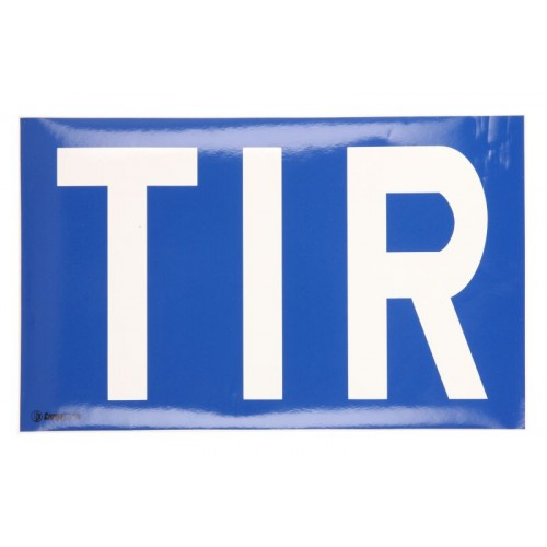 Autocolant TIR, Eticheta Autocolanta TIR, 250 x 400 mm ( 25 x 40 cm )