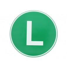 Eticheta, Autocolant Litera L, Autocolant Camion Litera L, Diamentru 22 cm (220 mm)