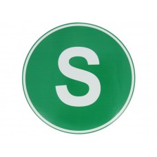 Eticheta, Autocolant Litera S, Autocolant Camion Litera S, Diamentru 22 cm (220 mm)