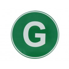 Eticheta, Autocolant Litera G, Autocolant Camion Litera G, Diamentru 22 cm (220 mm)