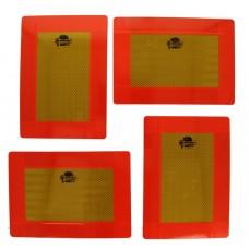 Set Placa Reflectorizanta Identificare Vehicul Lung, Remorca, Semiremorca, Camion 282 x 200 mm ( 28,2 x 20 cm ) - 4 Buc