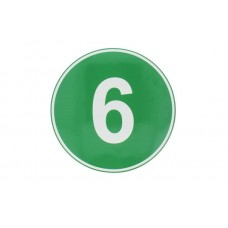 Eticheta, Autocolant Cifra 6, Autocolant Camion Euro 6, Diamentru 22 cm (220 mm)