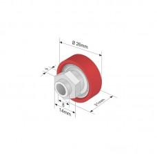 Rola Prelata, Element, Roata Culisare Prelata, Acoperis, din Plastic, Manson Hexagonal, 26x9mm