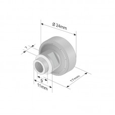 Rola Prelata, Element, Roata Culisare Prelata, Acoperis, Metalic, Tip Rulment, 24x7mm