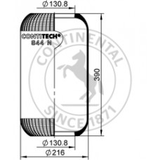 Perna de Aer Camion, Burduf Suspensie Pneumatica, 944 N 67138