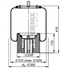 Perna Aer SCHMITZ cu Panson/Piston Plastic - Phoenix