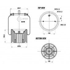 Perna Aer SCHMITZ Completa cu Panson/Piston Plastic - Airtech