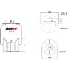 Perna Aer SCHMITZ Completa cu Panson/Piston Plastic - Blacktech