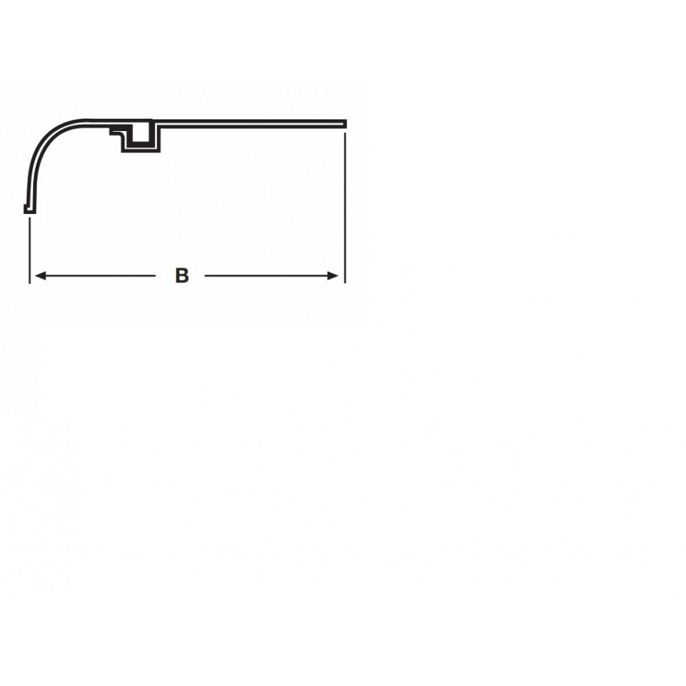 Aripa Pentru Axe Tandem, Metalica cu Rama Cauciuc, 264 x 60 x 65 cm (2640 x 600 x 650 mm)