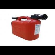 Canistra de Plastic cu Palnie, pentru Combustibil, 5 L, Jolie