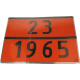 Placa ADR 23/1965 GPL, 40 x 30 cm ( 400 x 300 mm )