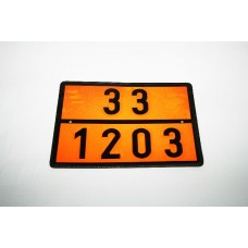 Placa ADR 33/1203 Benzina, 40 x 30 cm ( 400 x 300 mm )