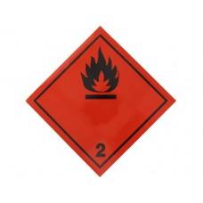 Eticheta ADR Autocolanta Pericol Transport Gaze Inflamabile Clasa 2.1n, 300x300mm ( 30x30cm )